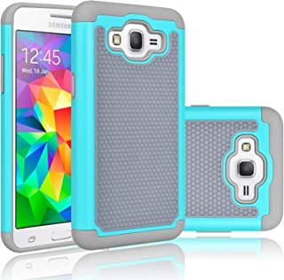 Tekcoo Grand Prime Case/Galaxy Go Prime Case, [Tmajor] Shock Absorbing [Turquoise] Hybrid Rubber Plastic Defender Rugged Slim Hard Protective Case Cover Shell for Samsung Galaxy Grand (GO) Prime