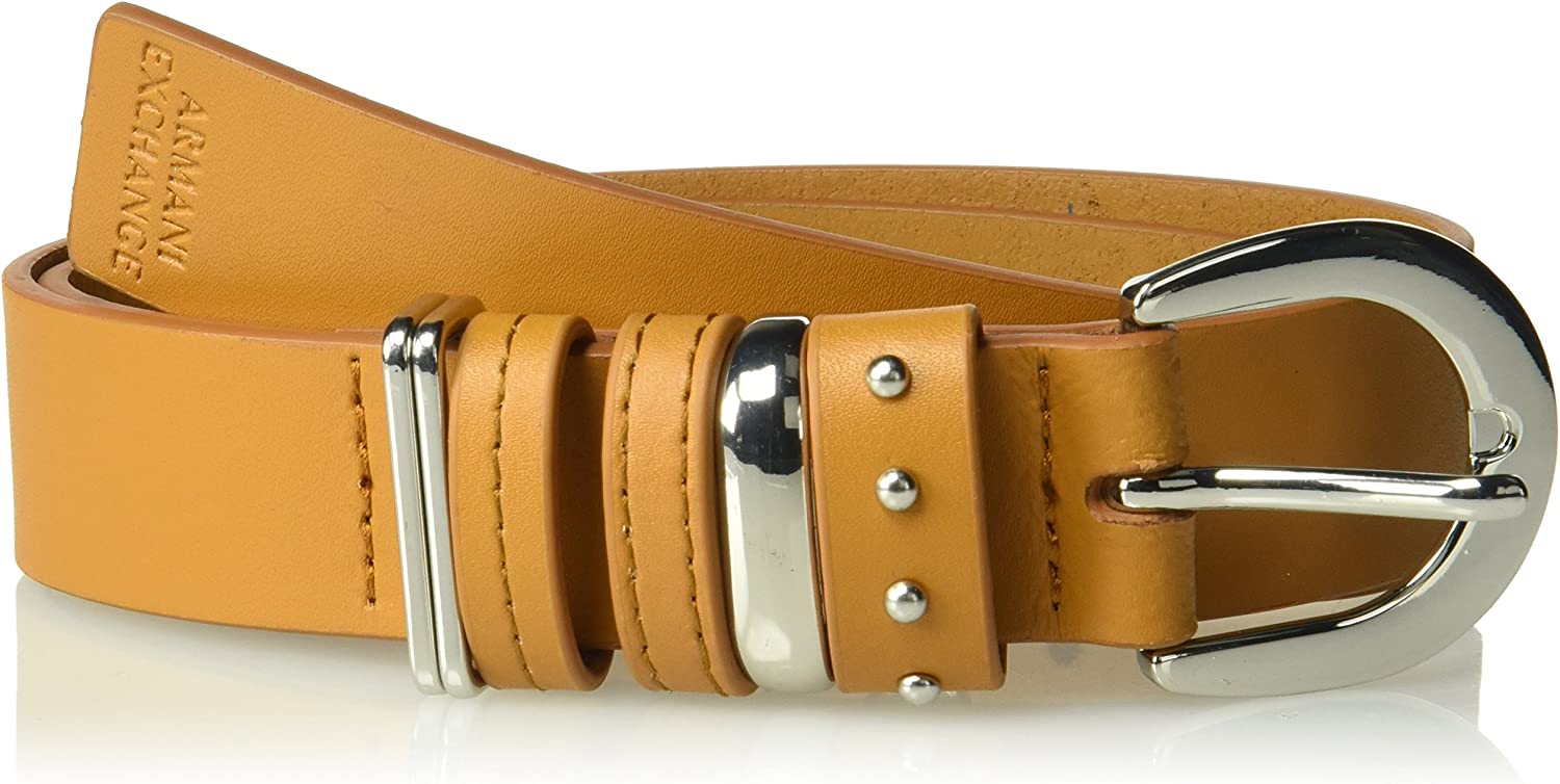 A X Armani Exchange womens Double Keeper Belt Belt