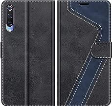 MOBESV Custodia Xiaomi Mi 9, Cover a Libro Xiaomi Mi 9, Custodia in Pelle Xiaomi Mi 9 Magnetica Cover per Xiaomi Mi 9, Elegante Nero