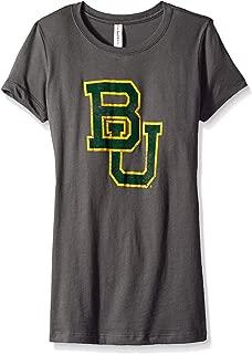 NCAA Baylor Bears Women's Vintage Sheer Short Sleeve Tee, Dark Grey, XX-Large