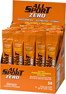 All Sport Powder Hydration Sticks | Zero Calorie | Performance Electrolyte Drink Mix | Sugar Free | 2x Potassium | Orange...