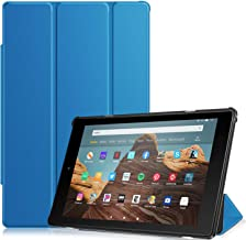 Fintie Slim Case for All-New Amazon Fire HD 10 Tablet (Compatible with 7th and 9th Generations, 2017 and 2019 Releases) - Ultra Lightweight Protective Stand Cover with Auto Wake/Sleep, Blue