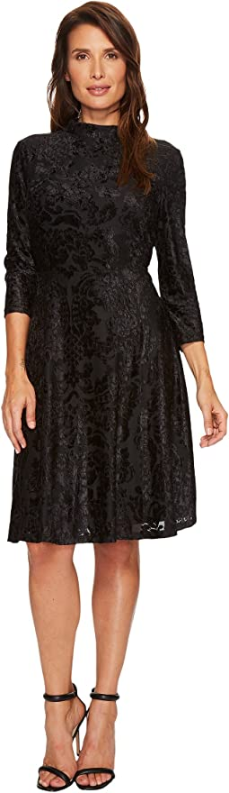 Ivanka Trump - Velvet Mock Neck Dress