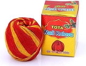 VRINDAVANBAZAAR.COM TOTA Moli Kalava for Puja.100% Cotton Kalawa Mauli Roll with Fragrance. Colour – Red,Yellow. Set of 10...