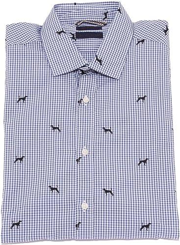 AT.P.CO 1745X Camicia hommes bleu blanc Cotton Shirt Man