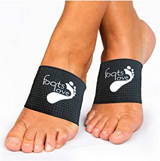 Foots Love- Compression Arch Support Sleeves for Plantar Fasciitis. The Original Nano Sock Copper Bandage. Guaranteed Top Quality. Avoid The Pain.