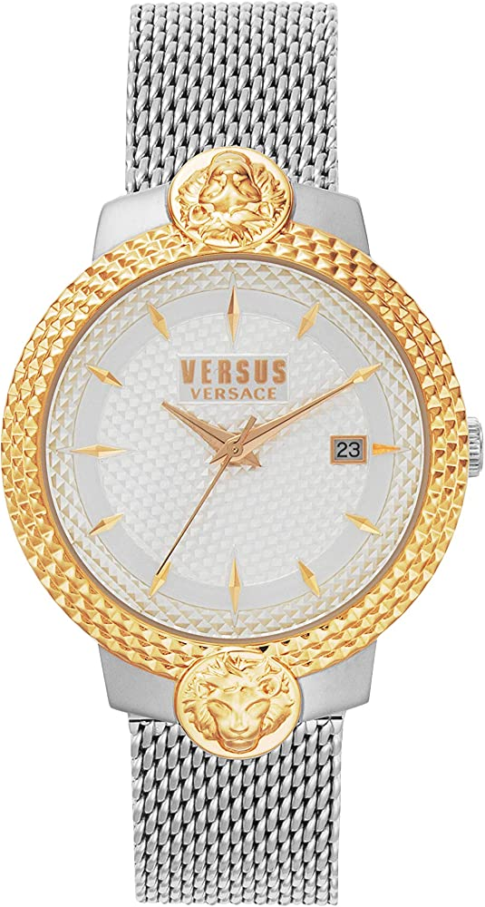 Versus versace orologio da donna  quadrante silver e cinturino in acciaio VSPLK0819