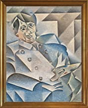 Berkin Arts Framed Juan Gris Giclee Canvas Print Paintings Poster Reproduction (Portrait Pablo Picasso)