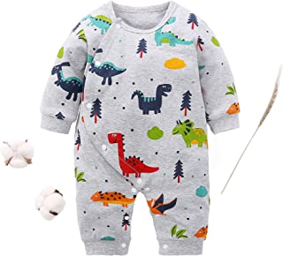 Newborn Infant Baby Girl Boy Lovely Cartoon Dinosaur Romper Jumpsuit Outfits Baby Clothes Bodysuit