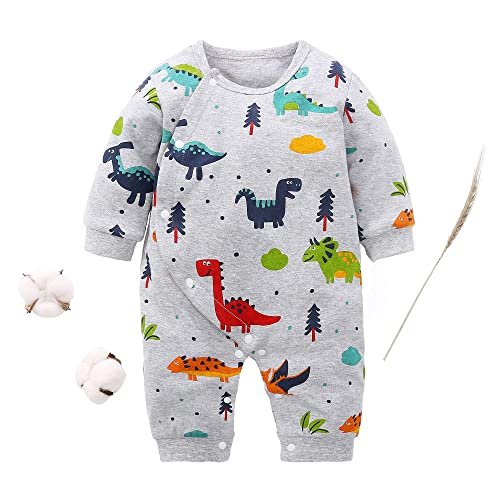 Newborn Baby Boy Girl Elephant Babygrow Romper Bodysuit Jumpsuit Outfits Clothes