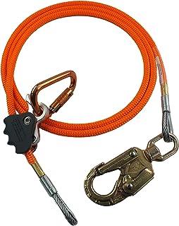کیت خط فلزی هسته ای ProClimb Wire Steel (1/2 اینچ) - تنظیم کننده چنگ زدن به طناب بهتر ، تنظیم تسمه طناب دار ، کشش کم ، مقاومت در برابر برش - برای محافظت در برابر سقوط ، اربابان ، کوهنوردان درخت (نارنجی - 14 پا)