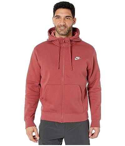 Nike NSW Club Hoodie Full Zip (Cedar/Cedar/White) Men