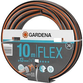 Gardena Comfort FLEX Schlauch 13 mm (1/2 Zoll), 10 m: Formstabiler, flexibler Gartenschlauch mit Power-Grip-Profil, aus hochwertigem Spiralgewebe, 25 bar Berstdruck, ohne Systemteile (18030-20)