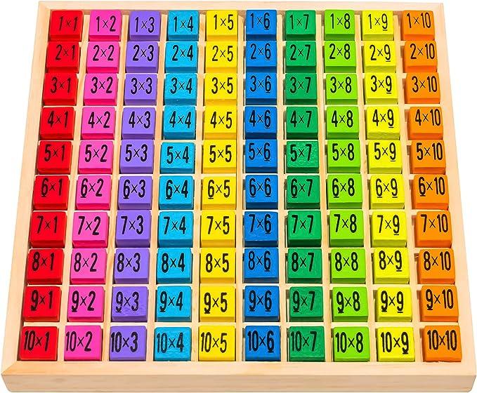 1094 opinioni per Tabellina Natureich per 1x1 alunni delle elementari / tavola di calcolo in legno