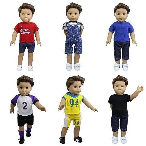 "Black White Soccer or Sports Shoes Fits American Girl Dolls Boy Doll Logan 18/"""