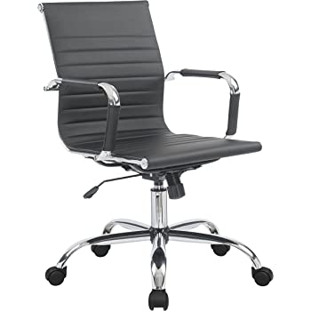 Amazon Com Porthos Home Ardin Adjustable Chair With Arms 360 Swivel 5 Roller Caster Wheels And Pu Leather Upholstery For Home And Office Uses One Size Black Furniture Decor