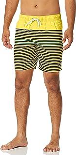 Nautica mens Quick Dry Varigated Stripe Series Swim Trunk Swim Trunks