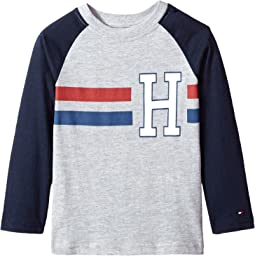 Tommy Hilfiger Kids - Horizontal Stripe-Bex Jersey Long Sleeve Tee (Toddler/Little Kids)