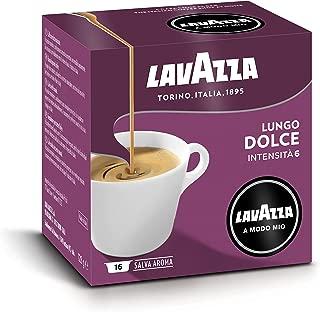 Lavazza Capsule Caffè A Modo Mio Espresso Lungo Dolce - 8 confezioni da 16 capsule [128 capsule]