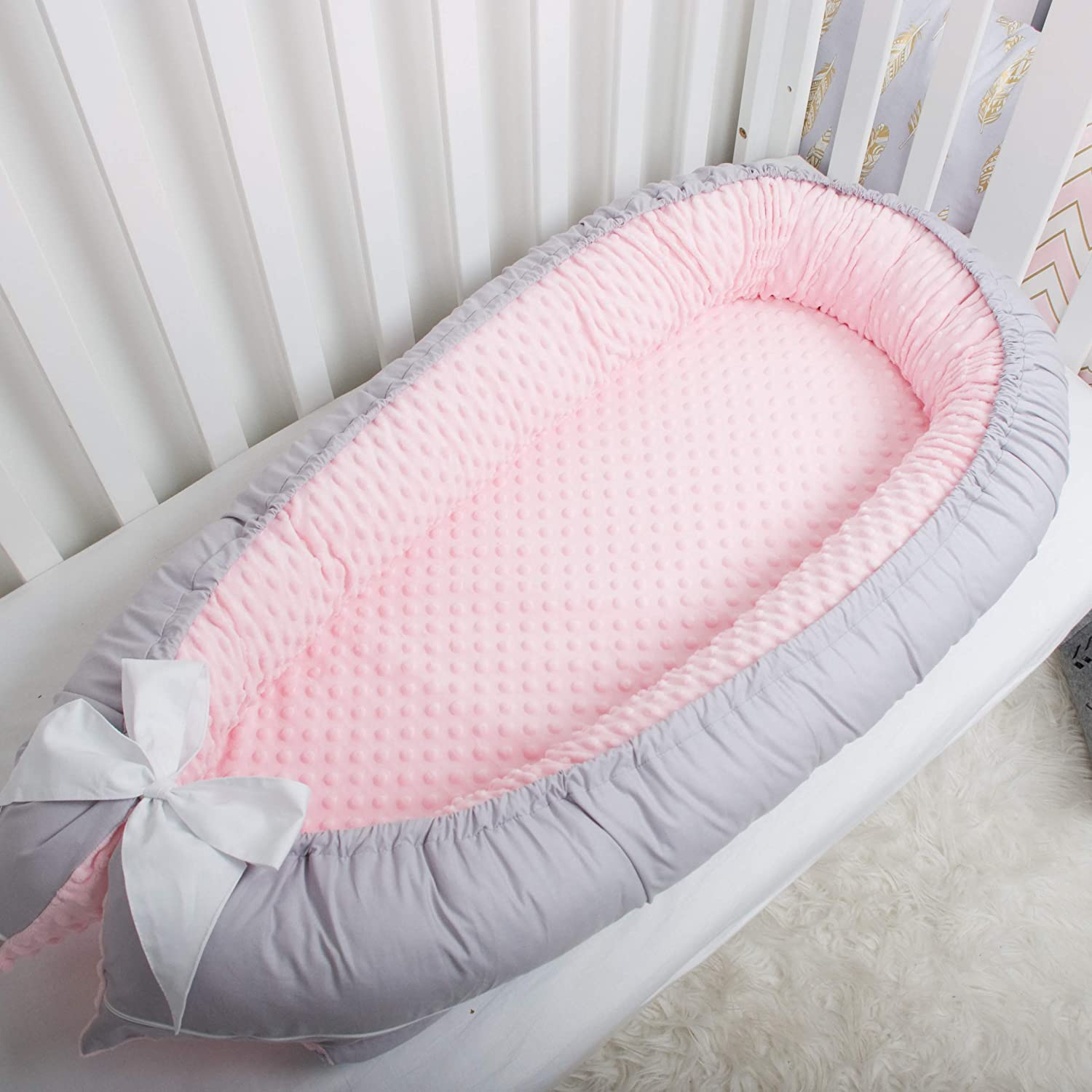 Minky Miami Mall Baby nest bed portable crib bassinet sleep baby lounger co Free shipping / New