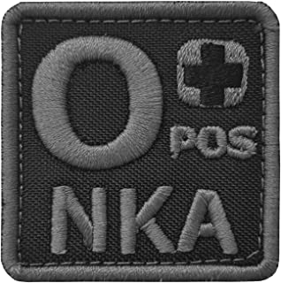 LEGEEON ACU O POS O+ NKA Blood Type Subdued Embroidered Touch Fastener Patch