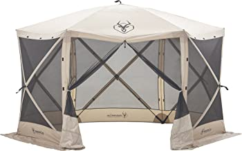 Gazelle Tents 21500 G6 Pop-Up Portable 6-Sided Hub Gazebo/Screen Tent, Easy Instant Set..