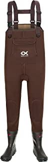 Duck and Fish Brown Neoprene 200G Thinsulate Hunting Fishing Air Bob Sole Bootfoot Chest Wader