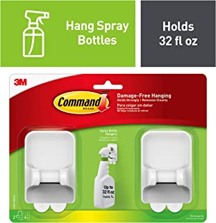 Command Spray Bottle Hangers, Decorate Damage-Free, Holds 32 fl oz (17009-HW2ES)