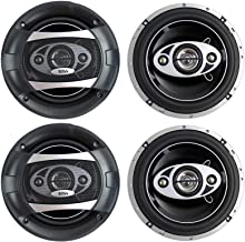 """4 New BOSS Audio P65.4C 6.5"""" 4-Way 400W Car Audio Coaxial Speakers Stereo P654C photo"""