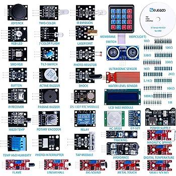 ELEGOO Actualizado 37-en-1 Kit de Módulos de Sensores con Tutorial Compatible con Arduino UNO R3 Mega 2560 Nano Raspberry: Amazon.es: Electrónica