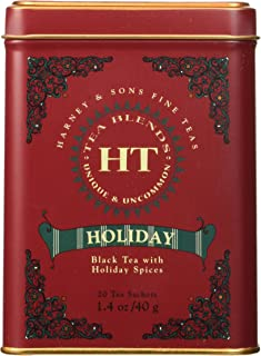 Harney & Sons Fine Teas Black Tea with Holiday Spices Tin - 20 Sachets