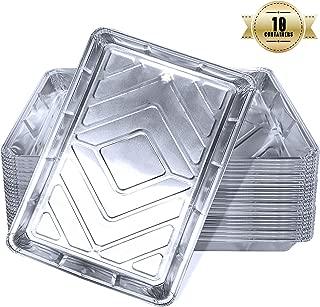 Bandejas De Aluminio, Bandejas De Papel Aluminio Para Hornear, Bandejas De Papel Aluminio Descartables Para Cocinar, Recalentar (Paquete De 10)