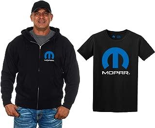 JH Design Men's Mopar Zip-up Hoodie & Mopar T-Shirt Combo Gift Set