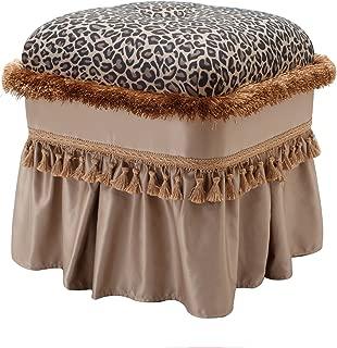 Jennifer Taylor Home Cassandra Ottoman, Leopard