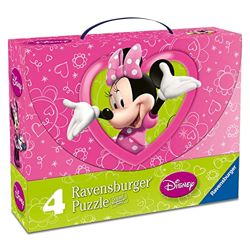 Ravensburger 07283 - Minnie Mouse - Valigetta 4 puzzle