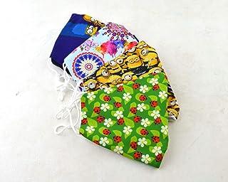 Daniela Barbieri pack 4 Mascarilla de tela homologada UNE0065, mascarilla reutilizable con bolsillo y pieza metálica en la...