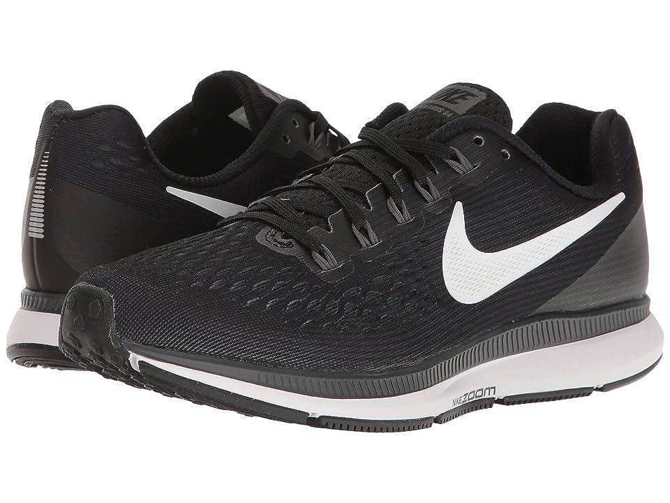 Nike Air Zoom Pegasus 34 (Black/White/Dark Grey/Anthracite) Women