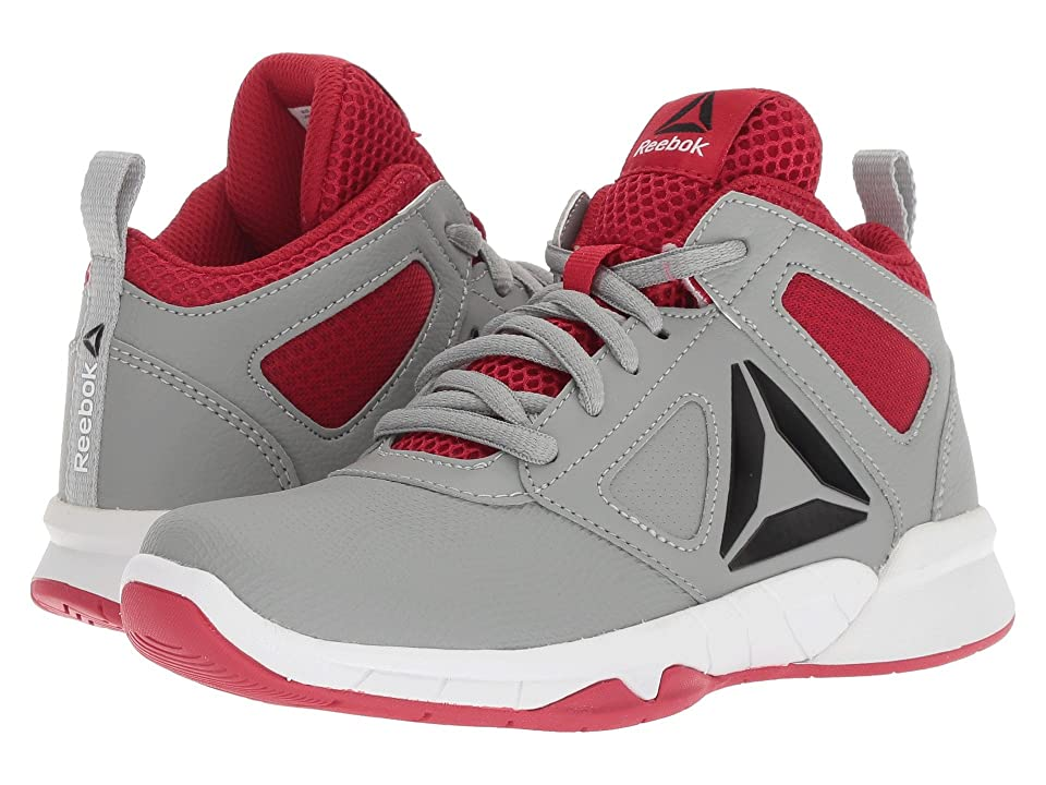 Reebok Kids Royal Dash N Drill Basketball (Little Kid/Big Kid) (Grey/Red/Black) Boys Shoes