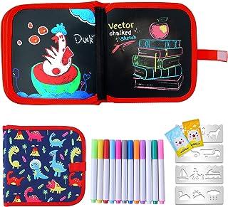 Ulikey Enfant Doodle Planches, Enfant Dessin Livre Effaçable Réutilisable, Tableau Bloc de Dessin, Planche de Graffiti Jou...