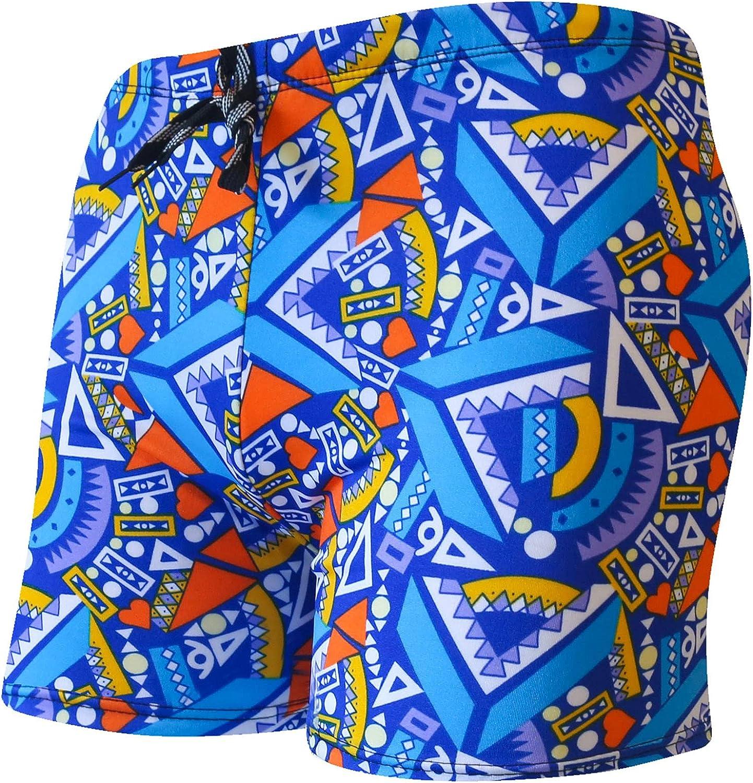 Camo Swim Trunks for Men, Men's Square Leg Swim Briefs Printed Swimsuit Athletic Swimwear Bathing Suit Swimming Trunks