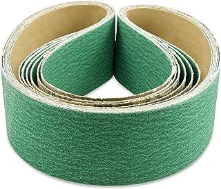 2 X 48 Inch 120 Grit Metal Grinding Zirconia Sanding Belts, 6 Pack