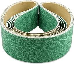 2 X 48 Inch 80 Grit Metal Grinding Zirconia Sanding Belts, 6 Pack