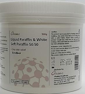 Crema de parafina líquida con vitaminas y parafina blanca suave