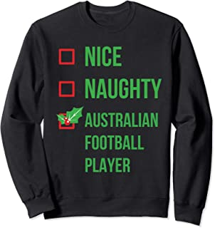 Australian Football Player Funny Pajama Christmas Gift Sweatshirt