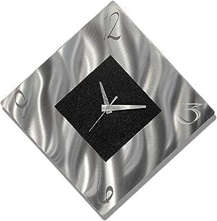 Black Metal Decorative Wall Clock, Abstract Modern Clock for Living Room or Kitchen, Jon Allen Metal Art, Prediction Clock