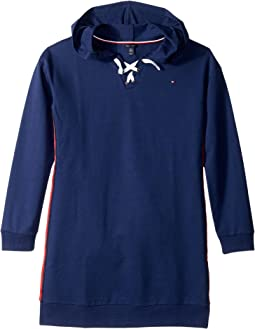Tommy Hilfiger Kids - Lace-Up Sweatshirt Dress (Big Kids)