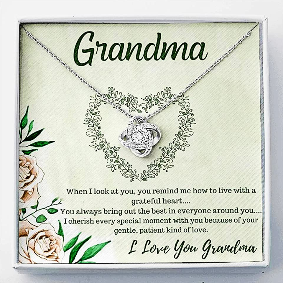Love Knot Necklace For Grandma Gifts, Mother's Day Gifts, Inspirational Gift For Grandma, Mothers Day Gifts From Daughter, Grandma Necklace, Mama Necklace, Grandma Gifts From Grandchildren