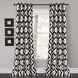 Lush Decor Diamond Ikat Room Darkening Window Curtain Panel Pair, 84