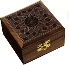 ShalinIndia Handcrafted Jewelry Box Wood Carved Unique Gifts for Women