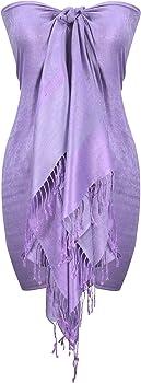 Peach Couture Elegant Vintage 2 Color Jacquard Paisley Pashmina Shawl Wrap